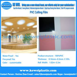 Colorful PVC Ceiling Film