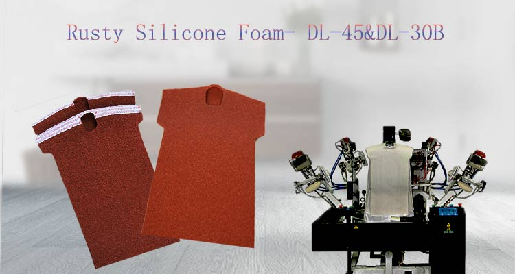 high temperature resistant open cell silicone sponge padding used for clothing finishing equipment
