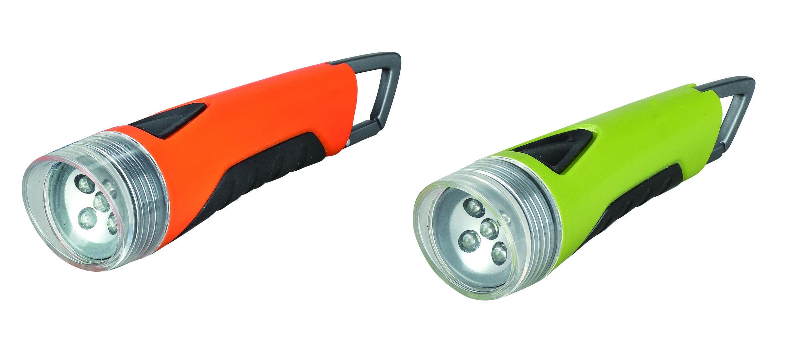 Plastic Clip 5 LED multifunction camping torch 3xAAA battery super powerful Hiking Aluminium LED fla