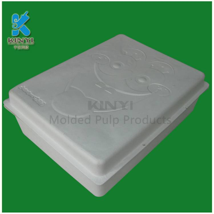 Eco friendly biodegradable bagasse pulp gift box packaging