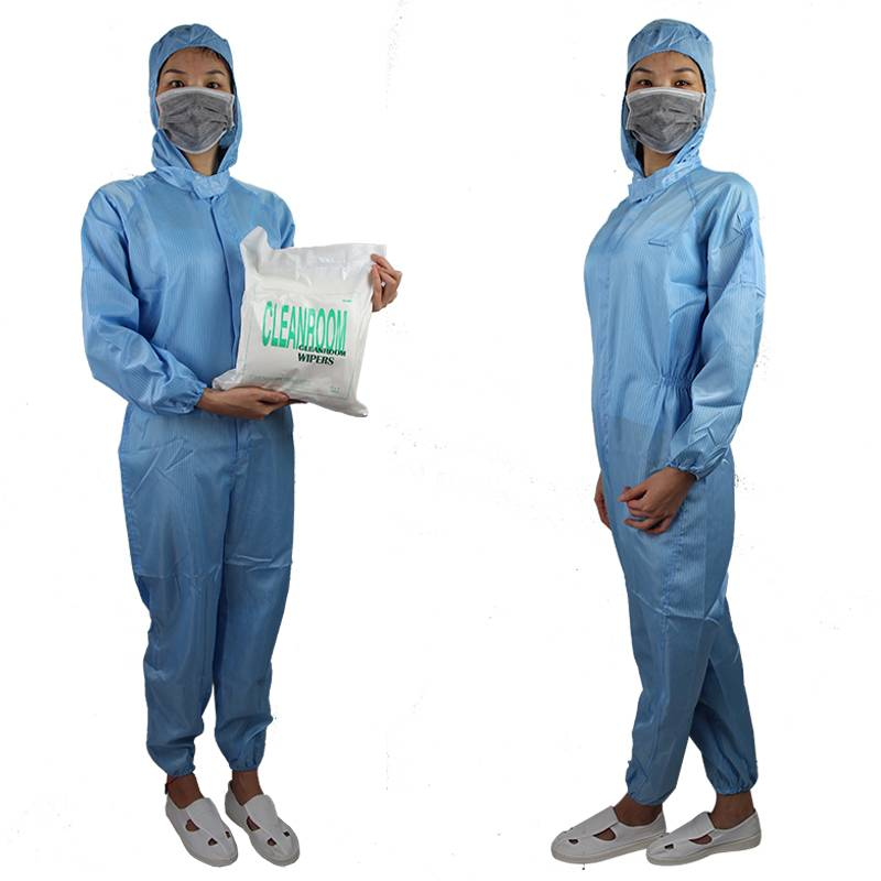 Various Type Low Linting Anti Static Overalls Use For Cleanroom