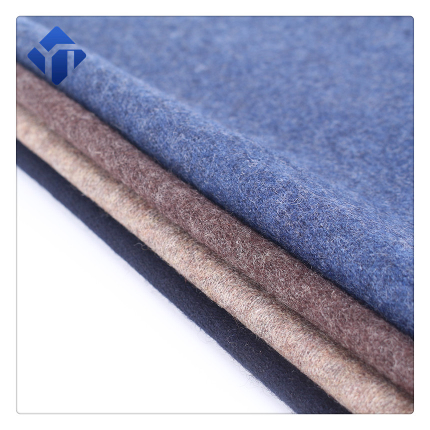 Comfortable and softy merino wool polyester knitted fabric for clothing