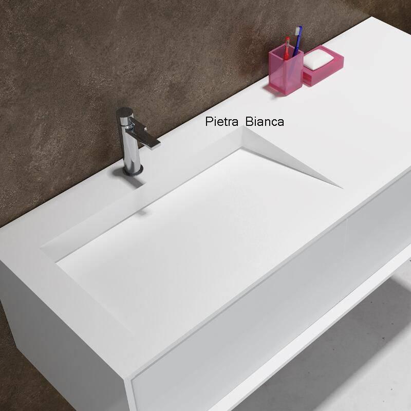 Popular Corian Wall-Hung Counter Top Basin (PB2068)
