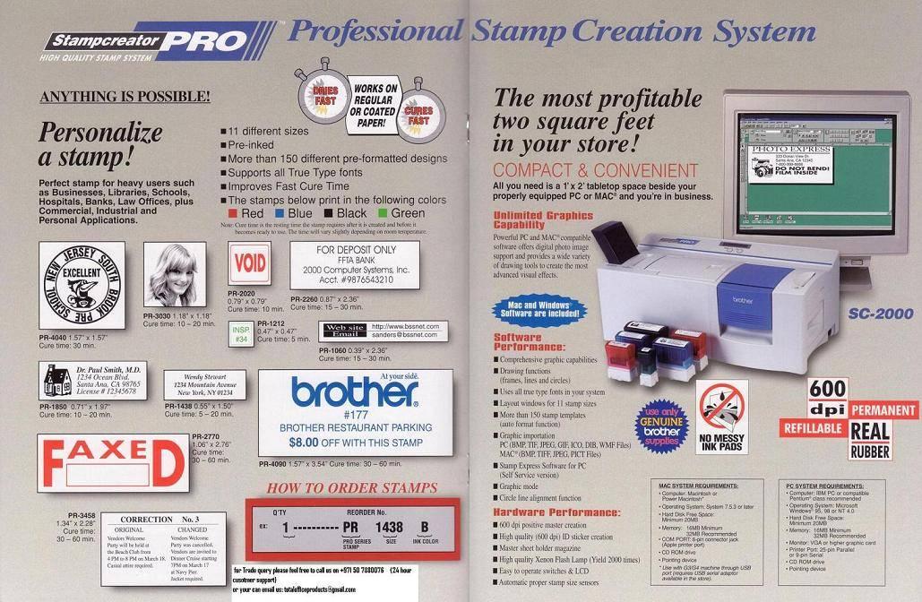 Brother Stamp Creator Maker Self Ink