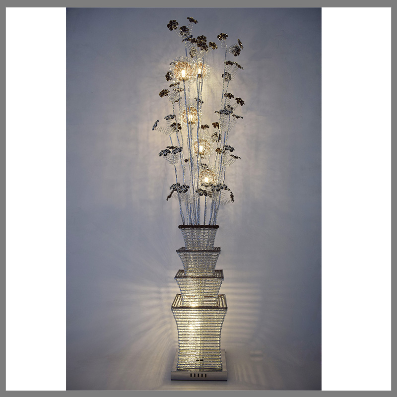 china wholesale metal flower vase decorative led floor standing lamps