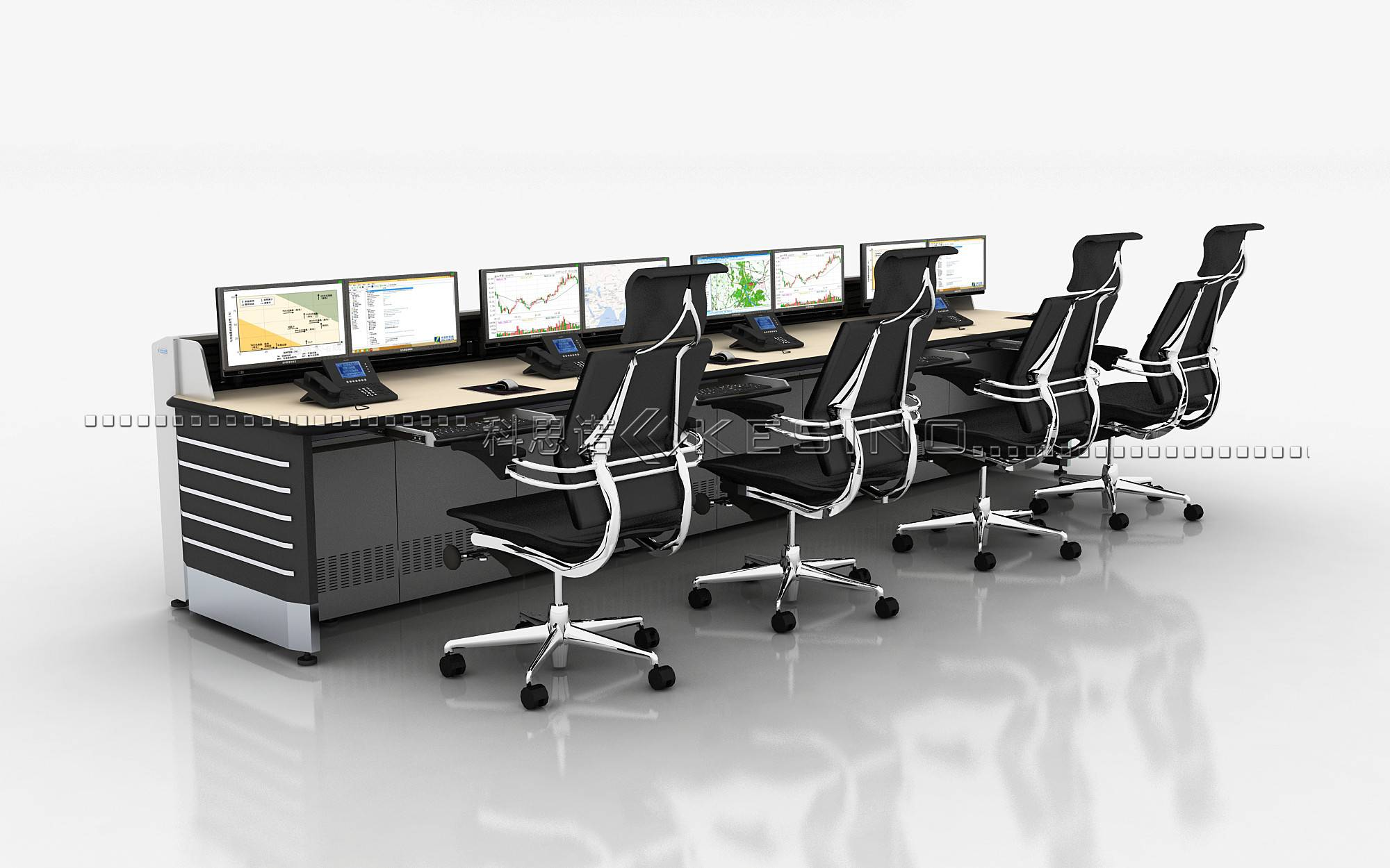 ISO Certified control room console ,office Furniture