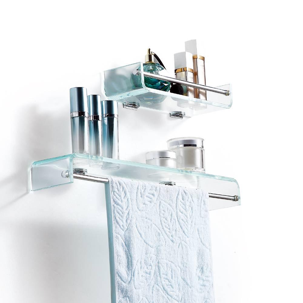 2015 Beautiful decor furniture wall mounted bathroom glass shelf