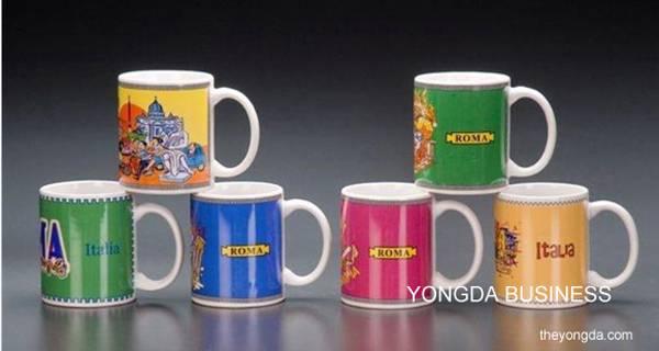 ceramic / porcelain / bone / stoneware mugs / cups with decal/logo/pattern