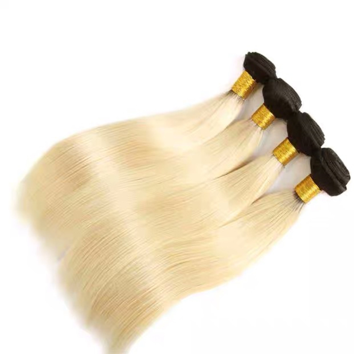 LEDON Hair Weft, Silky Straight, Natural Straight, ST,1B/ 613,100% Human Hair Extension