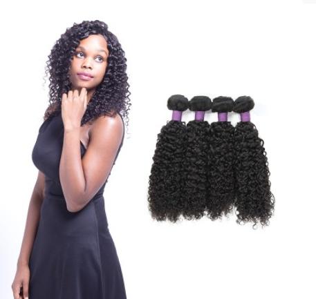 [9A]4 Bundles Brazilian Hair Weave Jerry Curly Virgin