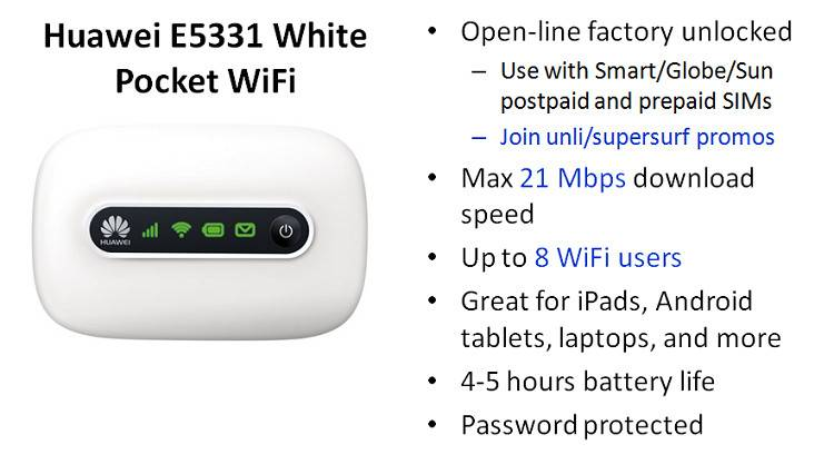 HUAWEI E5331 Mobile Broadband Wireless WIFI Hotspot Modem Router