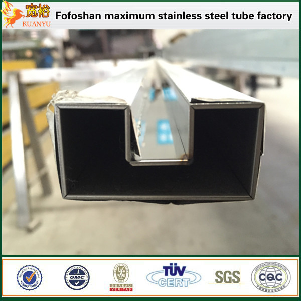 China supplier square tube stainless steel slotted pipes 316