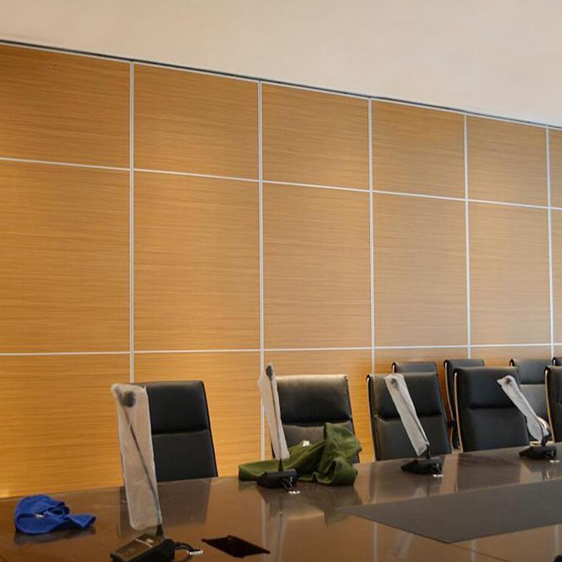 Sliding Aluminium Door Track Wooden Folding Office Partition Wall