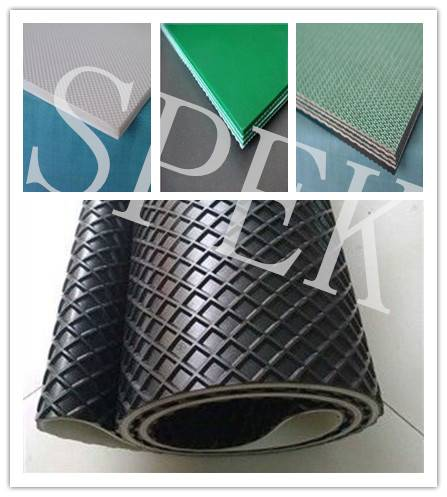 green white black blue PVC conveyor belt