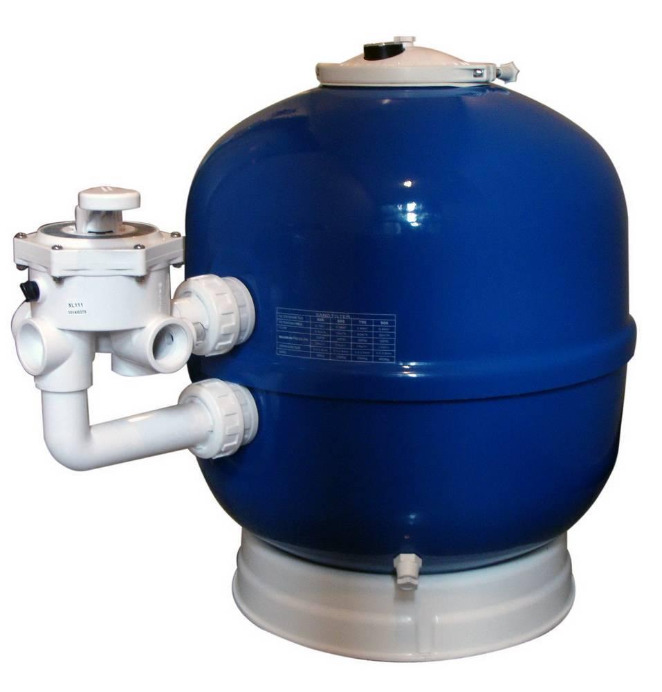 Sand filter laminated side mount