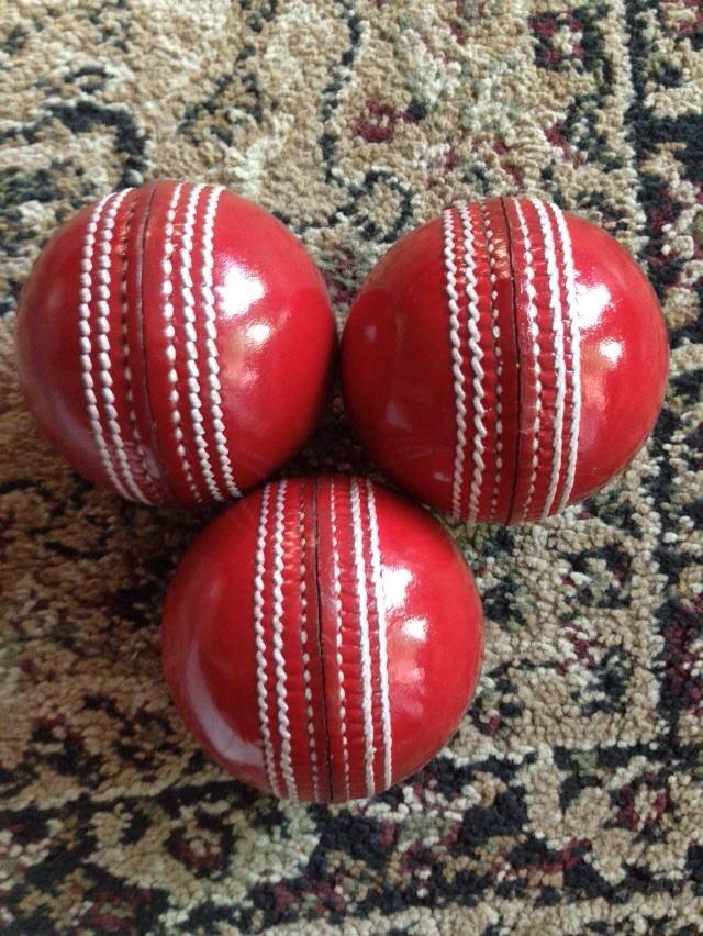 Leather Cricket Balls inside cork core