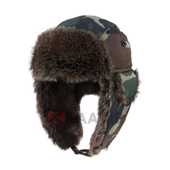 Pilot Bomber Faux Fur Winter Ski Warm Camo Tooper Trapper Ear Flap Hat