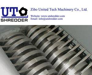 two roller shredder D2840 - recycling rubber, plastic, wood, metal, cable crusher recycling