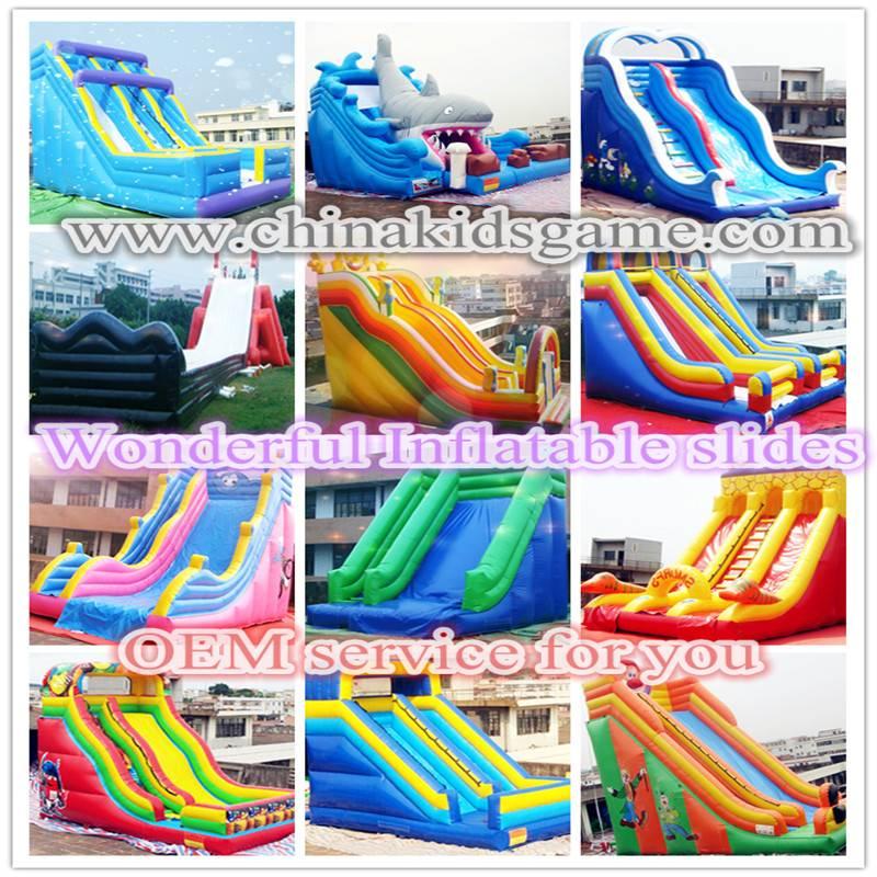 Hot!! children playground, PVC inflatable slides
