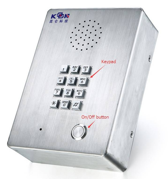 hang wall emergency telephone with LCD display