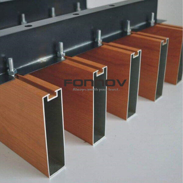 Timber Baffle Ceiling With Extruded Aluminum
