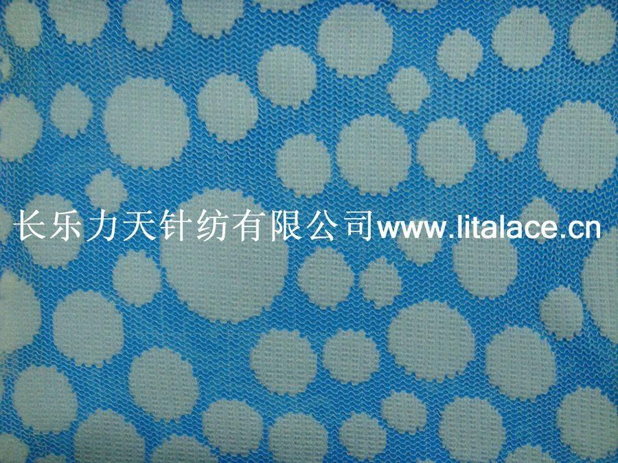 M5003 Gold thread dot non-elastic lace fabric