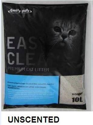 Emily Pets Bentonite Cat Litter Unscent 10L