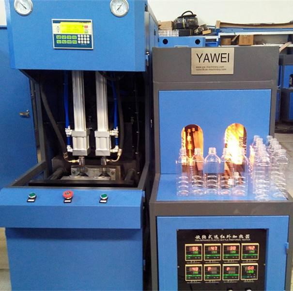 YW-B2000 2 cavity semi automatic blow 2L machines