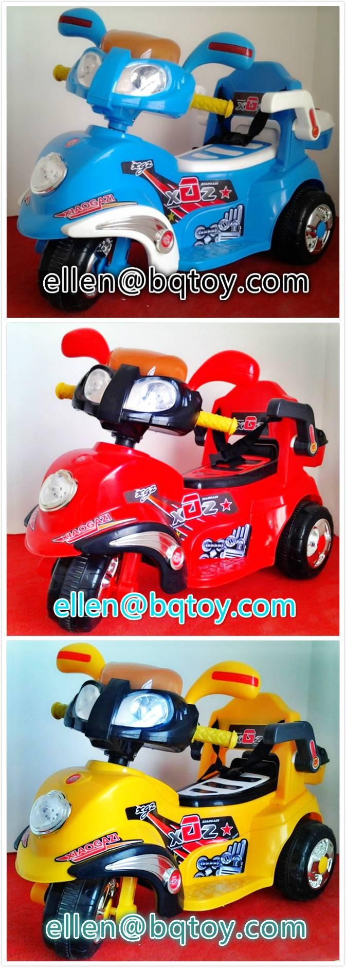 electric ride on motorcycle for kids provide by manufacturer