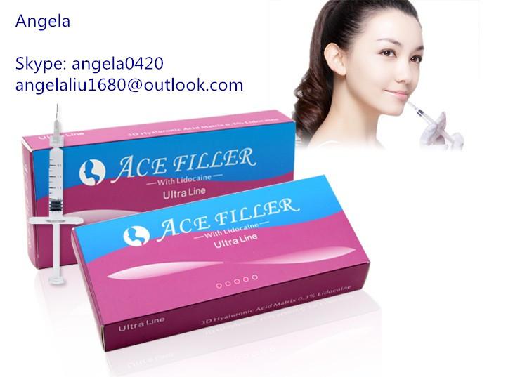 1ml ACE sodium hyaluronate acid ha filler gel for chin enhancement