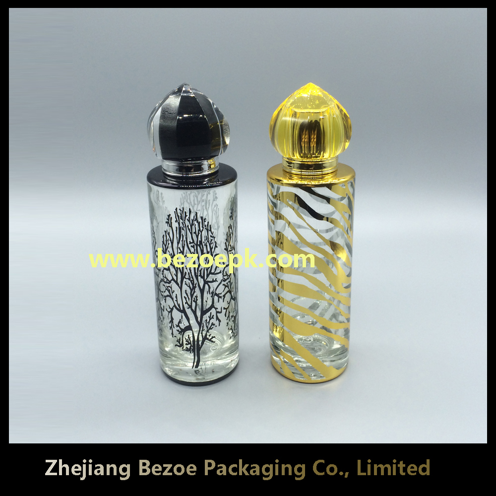 high quality fancy design glass bottle for perfume