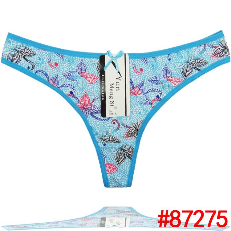 Butterfly printing cotton thong Underpants spandex g-string sexy lady panties soft women underwear t