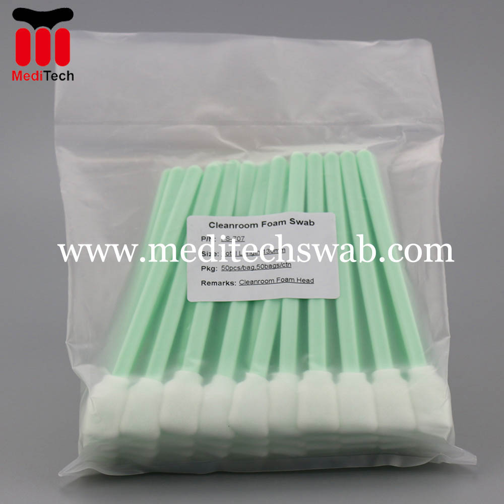 Industrial foam swabs
