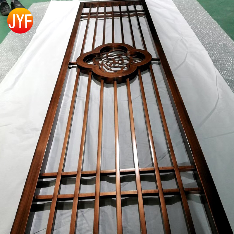 Foshan Manufactory high end hotel decorative metal screen partition and other metal products