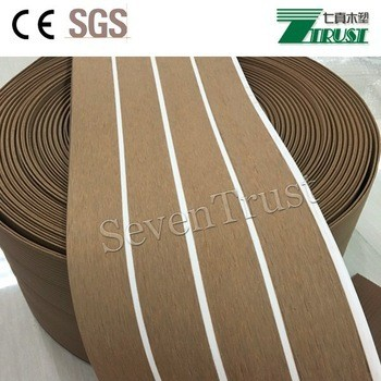 PVC foam Faux Teak Sheet Marine flooring boat yacht sails deck flooring decking Mat