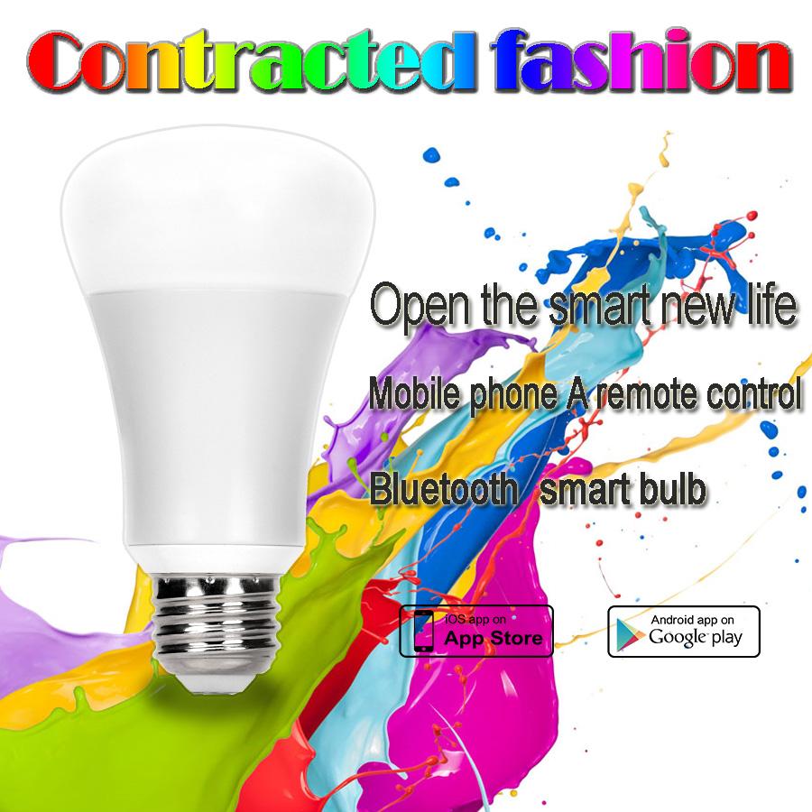 Wireless LED Bulbs 6W light RGBW 12 modes bluetooth color change bedroom mood light smart led bulb w
