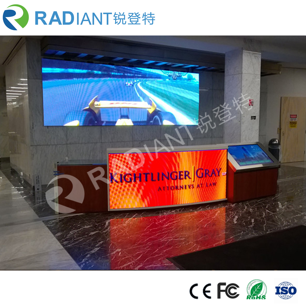 RADIANT LED creates multi faceted curved P4 cylindrical indoor LED screen for pillars