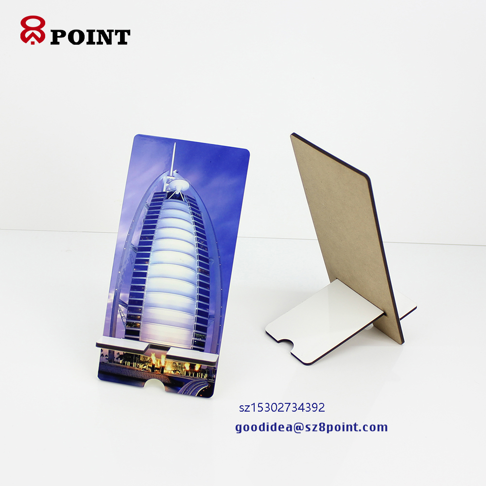 Sublimation MDF desktop use Mobile phone holder cellphone stands