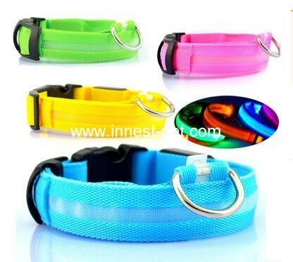 Remote Control LED Flashing Dog Collar, Nylon Dog Collar