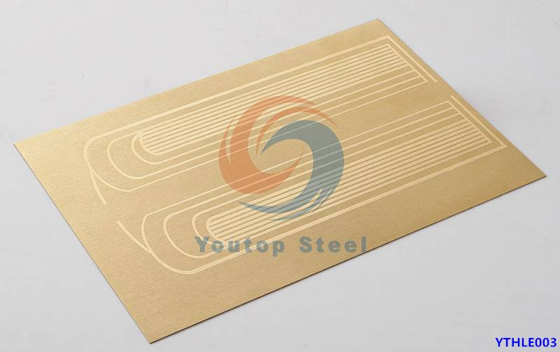 Hairline + Etch Finish Stainless Steel Sheet