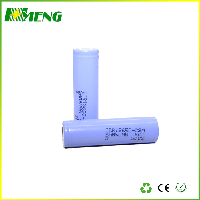 18650 28A 2800mah 3.7v lithium ion rechargeable battery for e-cigs