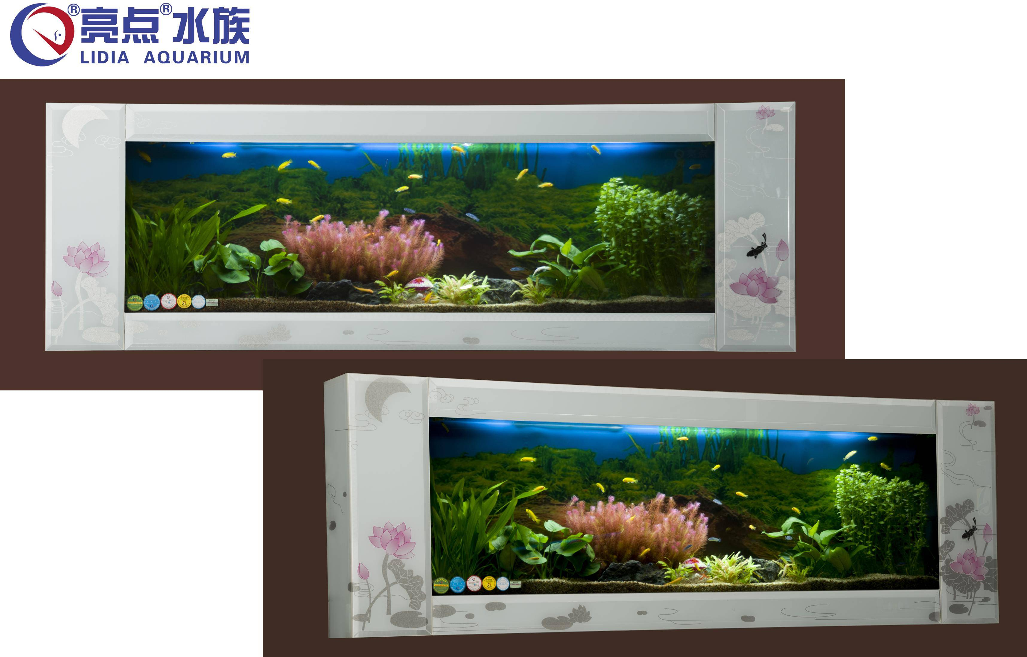 """""""Moonlight over the lotus pond"""" Wall-mounted tank"""