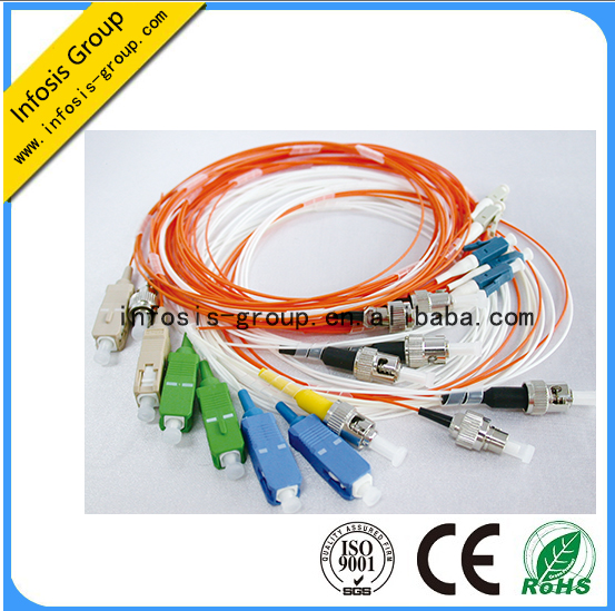 2.0 3.0mm flexible sm mm om4 om3 sc fiber optic pigtail