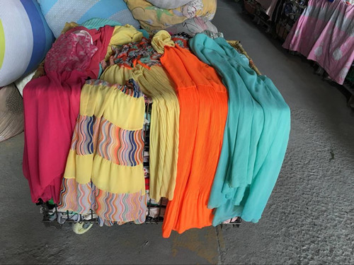 used silk dress long dress used clothes sale high quality second hand clothing