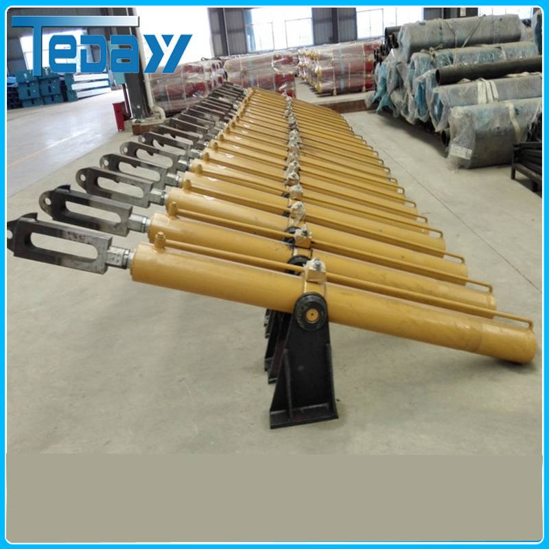 Cartwheel lift hydraulic cylinder for sanitation