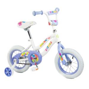 Tauki Colorful 12 inch Flowers Girl Bike, Purple