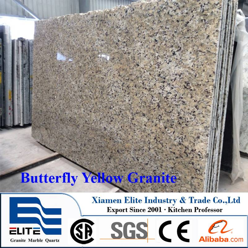 Butterfly Yellow Granite Slab natural stones