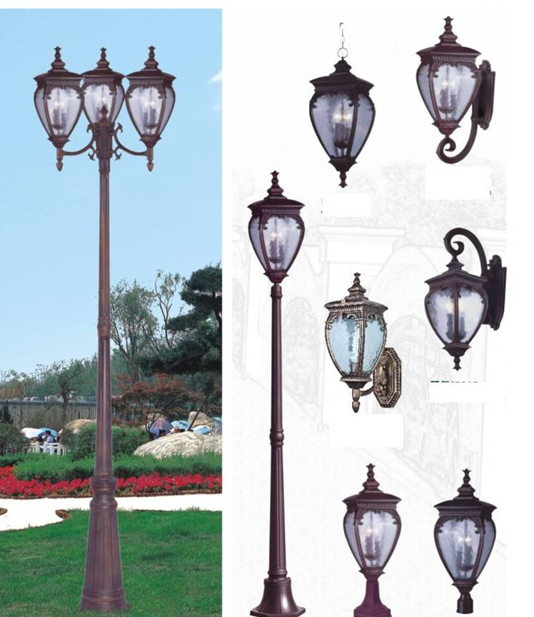 Garden Light with 3-4M Poles