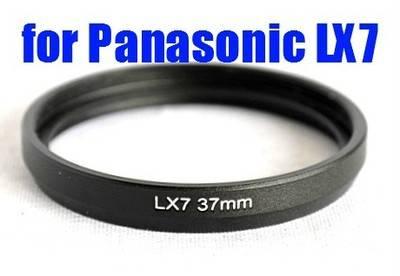 BLACK METAL LENS Filter Adapter tube Ring For PANASONIC DMC-LX7 37mm AS DMW-FA1