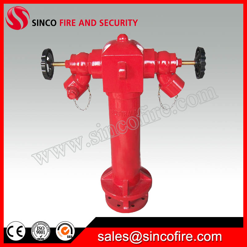 BS750 Two Way Pillar Double Outlet Fire Hydrant
